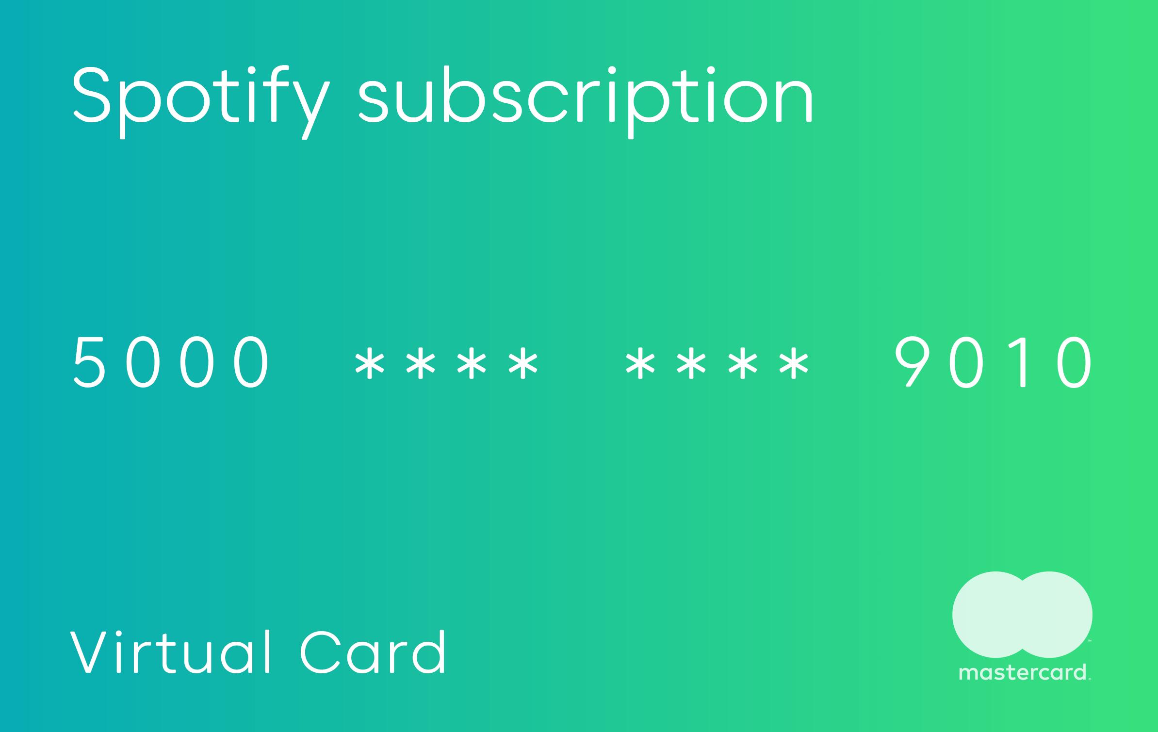 Green virtual card