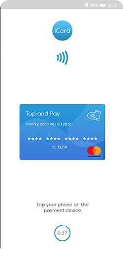 Tap & Pay feature screen